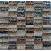 Maxwhite JSM-BL009 Mozaika skleněná kámen hnědá béžová 29,7x29,7cm sklo kamenná