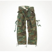 Spodnie Bojówki M65 woodland SURPLUS Vintage Fatigues Trousers 05-3596-62
