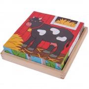 PUZZLE CUBIC - ANIMALUTE DE LA FERMA - BIGJIGS (BJ798)