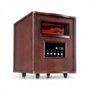 Klarstein Heatbox, infravörös hősugárzó, 1500 W, 12 órás időzítő, távirányító, sötét diófa (BRD-Heatbox-DRK)