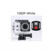 "4K 30fps 1080P 60fps Cámara de Acción Full HD Allwinner WIFI 2,0 ""Pantalla Mini casco impermeable deportes la cámara DV.(#1080P-Blanca)(#option4)"
