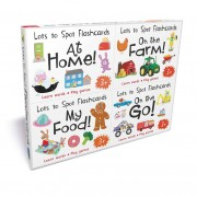 Miles Kelly Publishing Lots to Spot Flashcards Tray Busy World 4 Pack My food, At Home, On the Go, On the Farm- Hardcover - Age 3-5