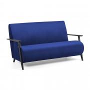 Kave Home Sofá Meghan 2 plazas terciopelo azul 145 cm