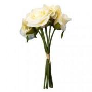 Buchet de trandafiri artificiali F419-274 Pami Flower 24 cm Galben