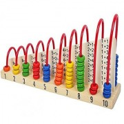 Shribossji Wooden Calculation Shelf Abacus Counting Addition Subtraction Maths Learning Educational Kit Toy For Kids