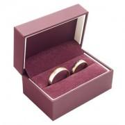 Koženková dárková krabička na snubní prsteny MZ-7/A10