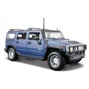 Maisto 1:27 2003 Hummer H2 SUV, Metallic Blue