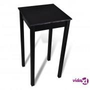 vidaXL Barski Stol MDF Crni 55x55x107 cm