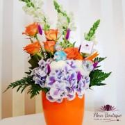 """Aranjament floral """"Mamici Fericite"""""""