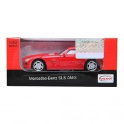 Rastar 1:43 Mercedes Benz Sls Amg Red Diecast Toy Car New