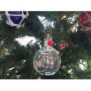 Hampton Nautical Santa Maria Model Ship in a Glass Bottle Christmas Ornament