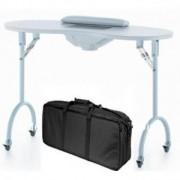 Masa pentru manichiura cu aspirator incorporat, CADOU geanta - pliabila, mobila - Alb