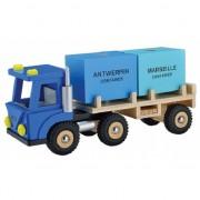 Speelgoed vrachtwagen blauw