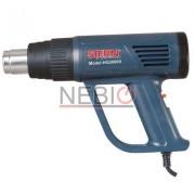 Pistol aer cald Stern HG2000V, 2000 W, 2 trepte caldura, Debit 350 - 500 l/min, Albastru