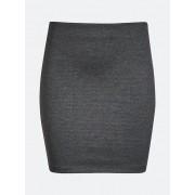 CUBUS Kort, kroppsnära kjol - Melerad mörkgrå