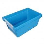 Allit Zasouvací přepravka a průhedným čelem, 490 x 300 x 210 mm, modrá