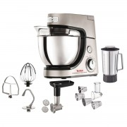 Robot de bucătărie TEFAL Masterchef Gourmet+ QB602H38, 900 W, Bol 4,6 L, Blender inox 1.5 L, Accesorii patiserie, Masina de tocat, 6 Functii, Argintiu