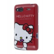 Hello Kitty Back Case for HTC Salsa - HTC Hard Case (White/Red)