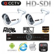 CCTV set HD SDI - 2x 1080P kamery s 30m IR + HD SDI DVR