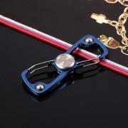 Abridor De Acero Inoxidable Spinner De Mano Fidget Spinner Para -Azul-Azul