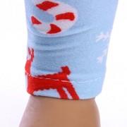 ELECTROPRIME Blue Christmas Elastic Skinny Leggings Pants for 43cm Zapf Baby Born Dolls