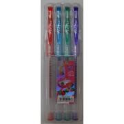 Zselés színes toll 4 db-os