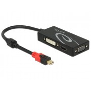 DeLock Adapter mini DisplayPort 1.2 male > VGA / HDMI / DVI female 4K Passive Black 62855
