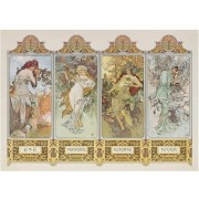 Puzzle Clementoni - Alfons Mucha: The Four Seasons, 1.000 piese (6316)