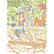 Wall Pops WPK1164 Wall Art Kit Woodlands Giant