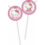 Hello Kitty szívószál (6 db-os)