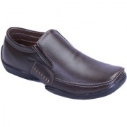 Shoebook MenS Classic Brown Formal Slip On