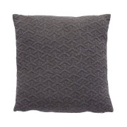 Hübsch Tmavě šedý polštář 50x50