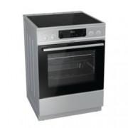 Готварска печка Gorenje EC6352XPA, клас A, 4 стъклокерамични нагревателни зони, 67 л. обем, индикатор за остатъчна топлина, система за сигурност, инокс