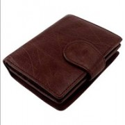 Yes Brand Co. Men Brown Genuine Leather Wallet(6 Card Slots)