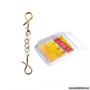 Оснастки цепочные Lucky John Chains c 2 застёж. 20мм/S 1уп-3шт БЗ-000341