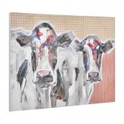 [art.work] Ručně malovaný obraz - krávy - plátno napnuté na rámu - 90x120x3,8 cm