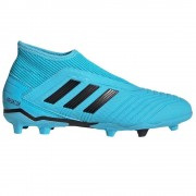 adidas Predator 19.3 LaceLess FG Kids Cyan - Blauw - Size: 34