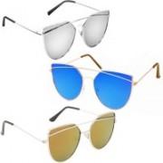Sulit Cat-eye Sunglasses(Silver, Green, Yellow)