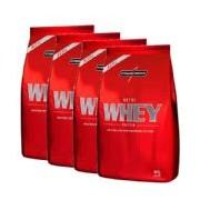 Combo 4 - Nutri Whey Protein - Refil Morango 907g - Integralmédica