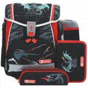 Step by Step Touch 2 Zaino scuola con accessorio set di 4pz. 38,5 cm Fire Dragon