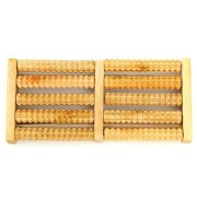 5 Rows Wooden Roller Foot Massager Stress Relief Health Therapy Relax Massage Crafts