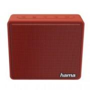 Тонколона Hama Pocket, 1.0, 3W, Bluetooth, 3.5mm Jack, microUSB, MicroSD Card, червена, 800mAh