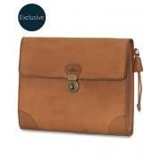 Morris Leather Portfolio Folder Vacchetta Tan