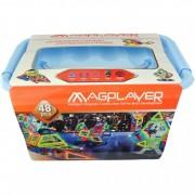 Joc de constructie magnetic 48 piese Magplayer