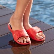Fashy AquaFeel Damen- oder Herren-Badeschuhe, 37/38 - Rot/Schwarz - Damen