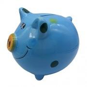 Child Cherish Large Ceramic Polka Dot Pig Piggy Bank Toy Bank Blue