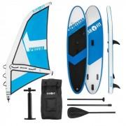 KLARFIT Spreestar WL Set tabla hinchable para surf de remo Tabla SUP 300x10x71 Azul/blanco (WTR1-Spreestar WL)