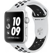 Apple Watch Nike+ 42 mm stříbrný hliník s platinovým/černým Nike sportovním řemínkem