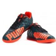 Puma evoSPEED Star IV Badminton Shoes For Men(Orange, Blue)