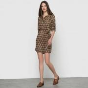 Bedrukte jurk met lange mouwen
